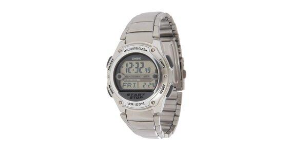 Pánské ocelové digitální hodinky Casio