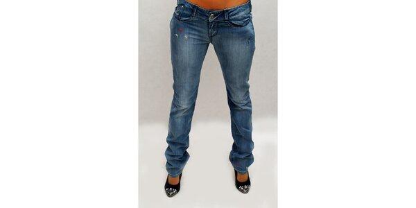 Dámské modré džíny s výšivkou Killah