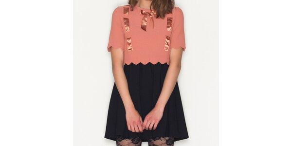 Dámské meruňkovo-černé šaty Pepa Loves