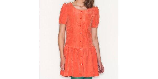 Dámské oranžové šaty s knoflíky Pepa Loves