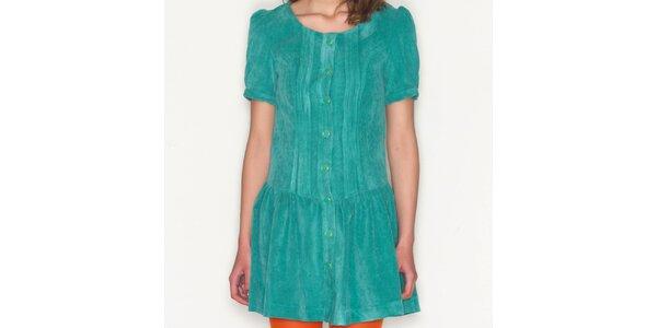 Dámské zelené šaty s knoflíky Pepa Loves