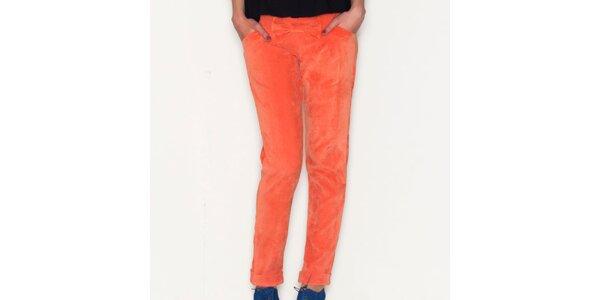 Dámské oranžové kalhoty Pepa Loves