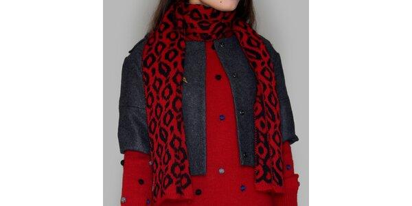 Dámská červeno-černá šála Pepa Loves