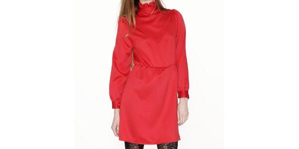 Dámské červené šaty se stojáčkem Pepa Loves