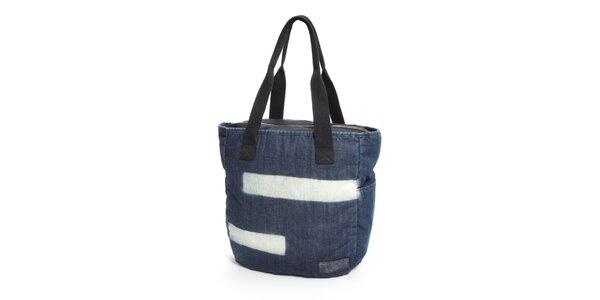 Dámská džínová taška Eastpak s bílými pruhy