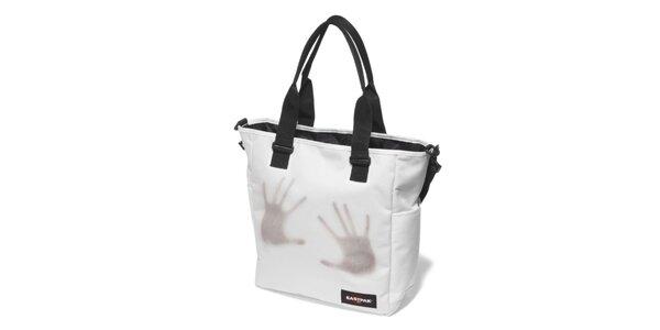Dámská bílá taška Eastpak s otisky rukou