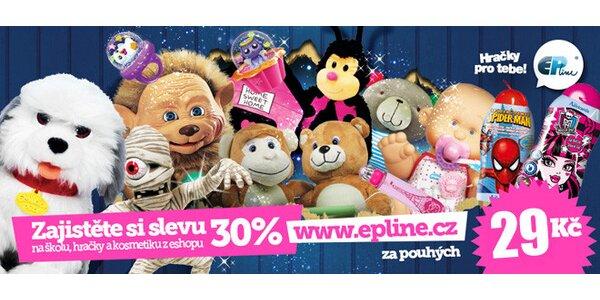 30% sleva do internetového hračkářství Epline.cz