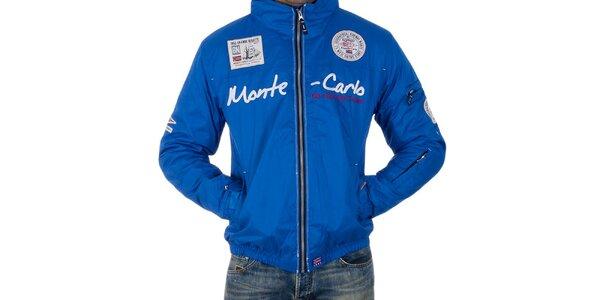Pánská modrá bunda s nápisem Geographical Norway