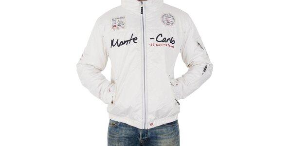 Pánská bílá bunda s nápisem Geographical Norway