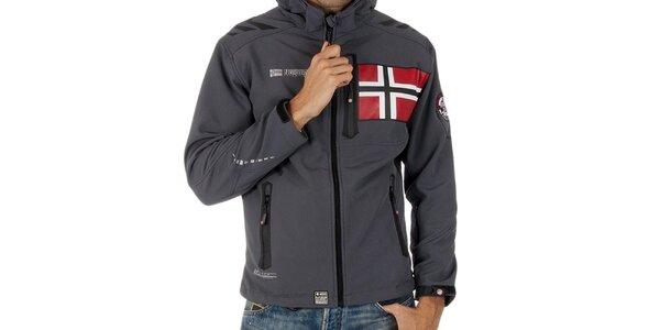 Pánská softshellová šedá bunda Geographical Norway