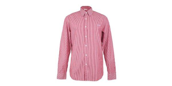 Pánská červeno-bílá proužkovaná košile GAS