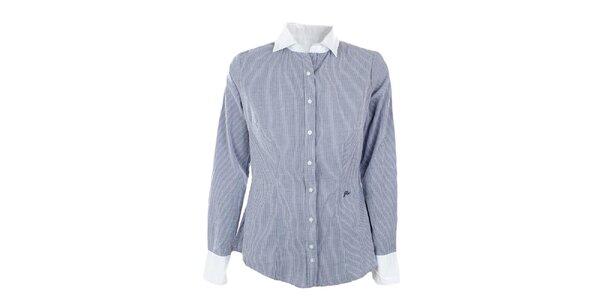 Dámská pruhovaná košile s bílým límečkem GAS