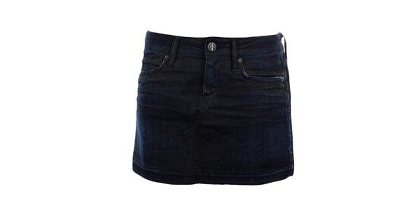 Dámská temně modrá džínová sukně GAS