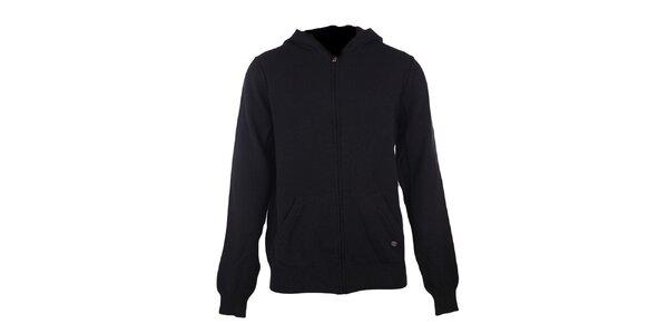Pánský černý svetr s kapucí GAS