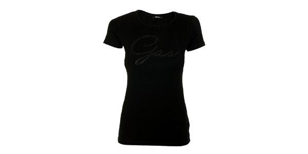 Dámské černé tričko s logem GAS