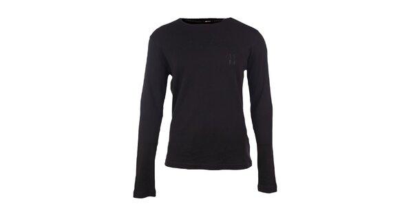 Pánské černé tričko s dlouhými rukávy GAS