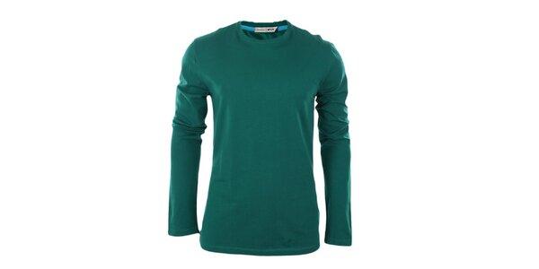 Pánské zelené tričko s dlouhým rukávem GAS