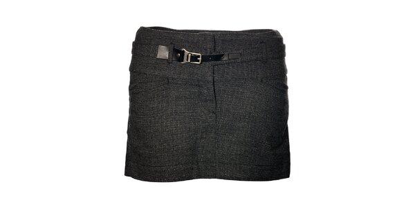 Dámská tmavě šedá mini sukně Gas