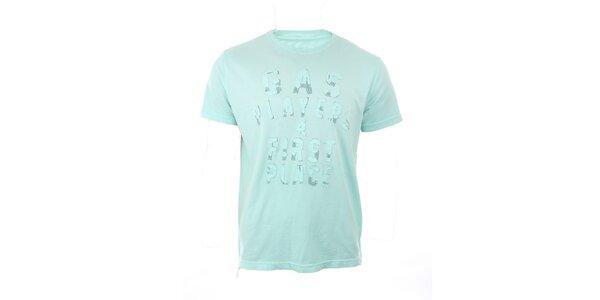 Pánské světle zelené tričko GAS s nášivkou