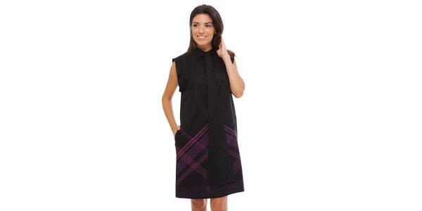 Dámské černé šaty Strena s vázankou