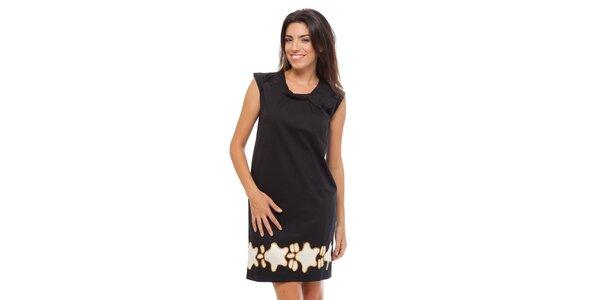 Dámské černé šaty Strena s potiskem