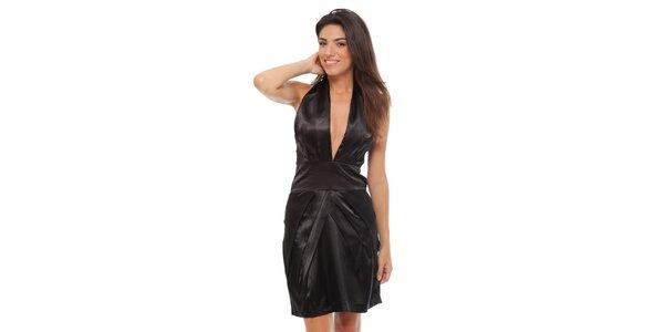 Dámské černé saténové šaty Strena