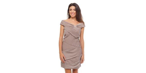 Dámské béžové šaty Strena
