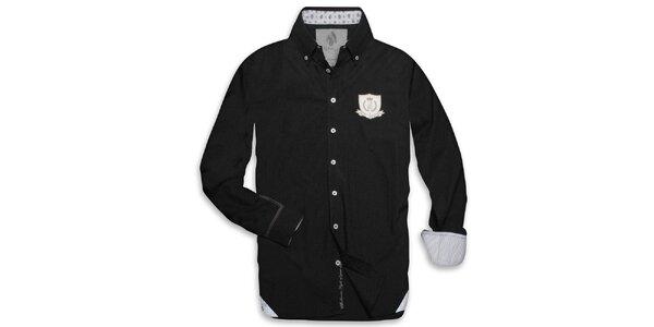 Pánská černá košile s nášivkou Paul Stargas