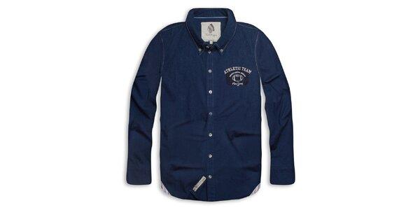 Pánská tmavě modrá košile s nápisem na zádech Paul Stragas