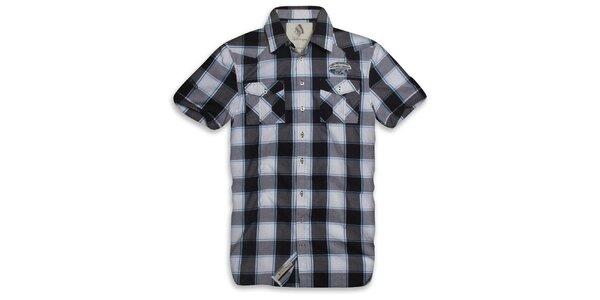 Pánská kostkovaná košile s modrým proužkem Paul Stragas