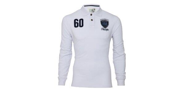 Pánské bílé triko s dlouhým rukávem Paul Stragas
