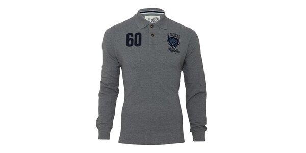 Pánské šedé triko s dlouhým rukávem Paul Stragas