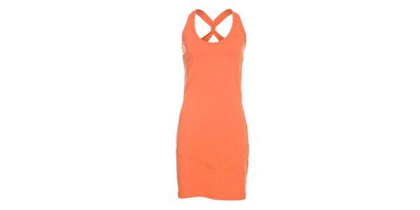Dámské sytě oranžové tílkové šaty Rejoice s překříženými ramínky