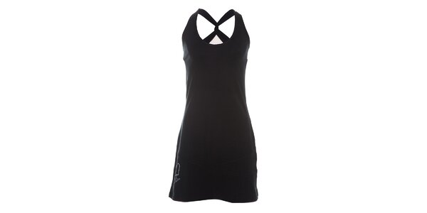 Dámské černé tílkové šaty Rejoice s překříženými ramínky