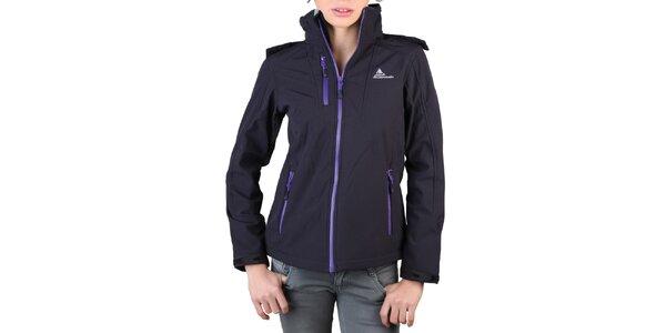 Dámská černá bunda s fialovými zipy Peak Mountain