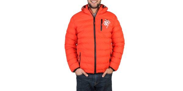 Pánská oranžová zimní bunda Peak Mountain