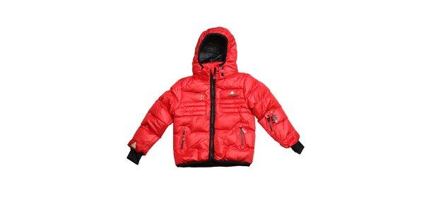 Dětská červená prošívaná zimní bunda Peak Mountain