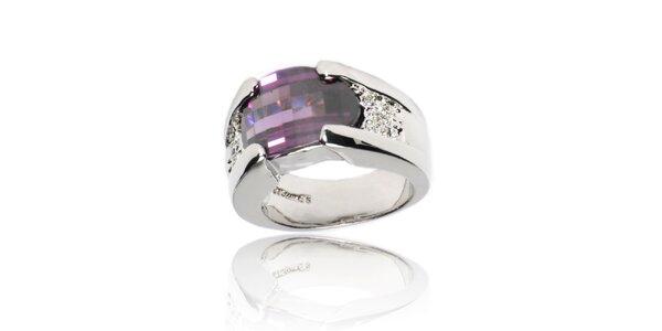 Dámský prsten Bague a Dames s velkým fialovým krystalem
