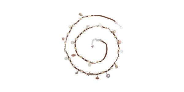 Dámský textilní náhrdelník Guess s lasturami