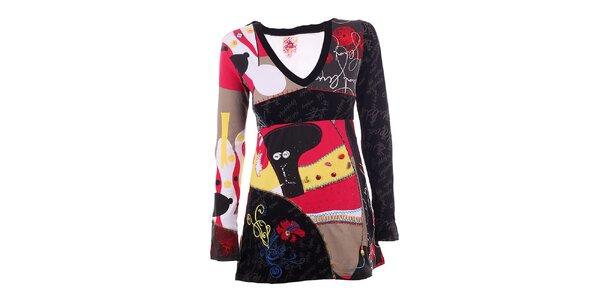 Dámské barevné šaty s knoflíčky DY Dislay Design