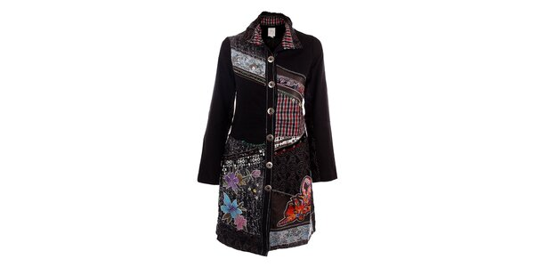 Dámský pestrý vyšívaný kabát DY Dislay Design
