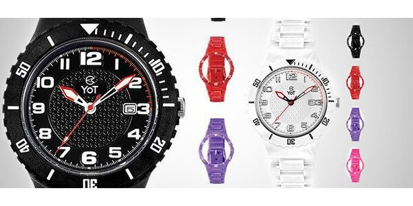 Designové hodinky YOT + 4 náramky na výměnu 388e0f4b67