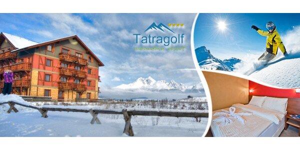 Lyžování i wellness ve Vysokých Tatrách pro 2-4 osoby