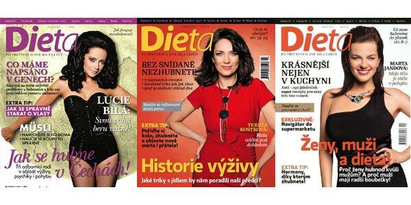 Roční předplatné oblíbeného časopisu Dieta