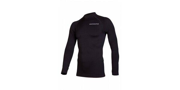 Pánské černé bezešvé termo tričko Envy