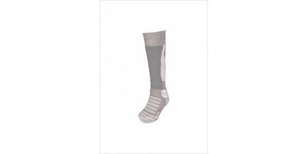 Dámské světle šedé lyžařské ponožky Envy s merino vlnou