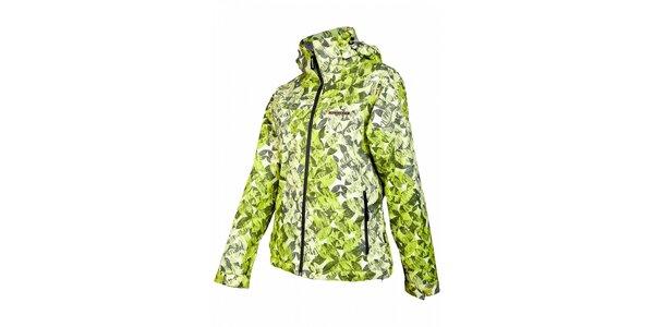 Dámská světle zelená snowboardová bunda Envy s potiskem