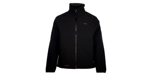 Pánská černá zimní softshellová bunda 3v1