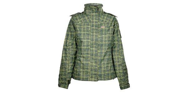 Dámská zelená lyžařská bunda Envy s potiskem