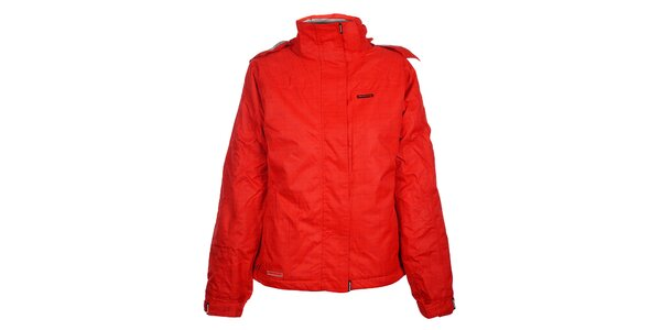 Dámská červená lyžařská bunda Envy s potiskem